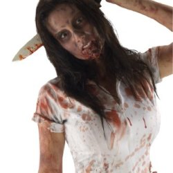 Inspired By The Walking Dead Tv Show, Kitchen Knife In Head On Headband