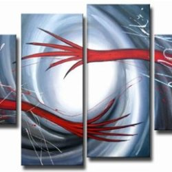 Sangu Wood Framed Circus Creations Abstract Home Decoration Modern Oil Painting Gift On Canvas 4-Piece Art Wall Decor