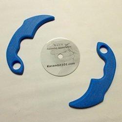 2 Ice Blue Kerambit Trainer Knives Knife & Karambit Training Dvd Video Pukulan Serak