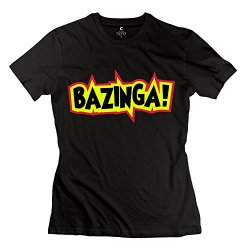 Bazinga Tee Shirts For Lady/Black Tshirts