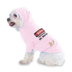 Protected By Dr. Who Fan Hooded (Hoody) T-Shirt With Pocket For Your Dog Or Cat Size Small Lt Pink