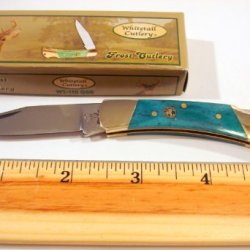 "Whitetail Cutlery 'Little Warrior' - 3"" Long Green Smooth Bone Handle, 2-1/4"" Long Stainless Steel Blade"