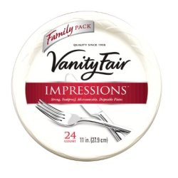 "Vanity Fair 11"" Plates, 24 Count"