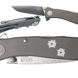 Bullet Holes Custom Engraved Sog Twitch Ii Twi-8 Assisted Folding Pocket Knife By Ndz Performance