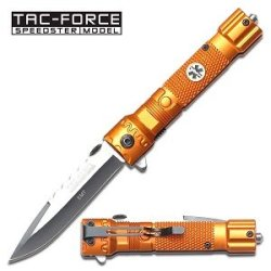 Tac Force Tf-703Em Assisted Opening Folding Knife 4.5-Inch Closed