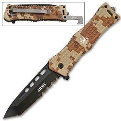 New Ao Army Digital Camo Rescue Knife Cld164