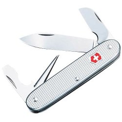 Victorinox Swiss Army Electrician Pocket Knife (Silver Alox Ribbed)