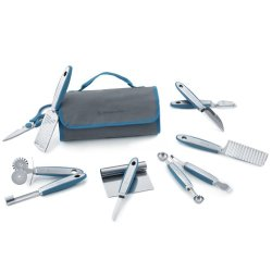 Wolfgang Puck 12 Pc Complete Prep Set With Storage Case (Blue)