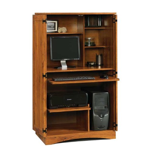 Picture of Comfortable Harvest Mill Computer Armoire (B005409BYW) (Computer Armoires)