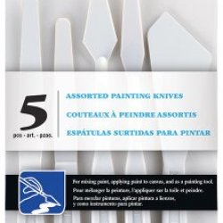Loew Cornell, 5 Piece Plastic Palette/Painting Knife Set