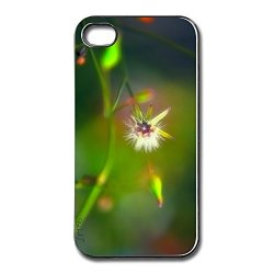 Fantasty Friendly Packaging White Flower Apple Iphone 4 Cover