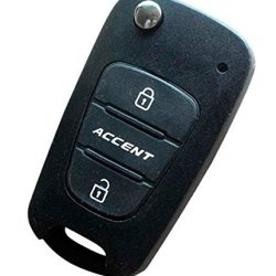 Replacement Flip Folding Key Shell For Hyundai Accent Remote Key Case Fob 3 Button