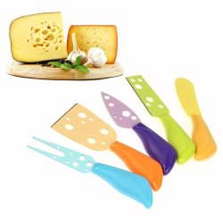Lagute Lechef Kitchen Cheese Knife For Brie Camembert Parmesan (5-Piece)