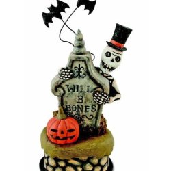 Halloween Decoration - Haunted Graveyard - Bethany Lowe Designs - Skeleton - Tombstone - Pumpkin