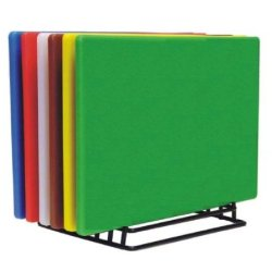"(Set Of 6) Color Cutting Boards Non-Skid Surface, Large 24"" X 18"" *Nsf Listed*"