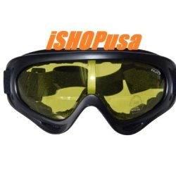 New!!! Falatt Airsoft Shooting Safety Glasses / Goggles, Vented, Black Frame / Amber Lens