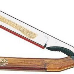 Dovo Shavette Straight Razor Folding Knife,Stainless Blade, Tortoise Shell Handle 201 000