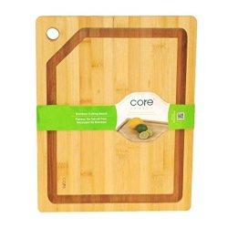 Core Bamboo Medium Cutting Board 14 X 11 With Drip Groove