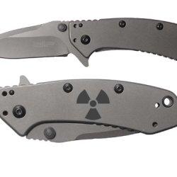 Radiation Nuke Fallout Shelter Engraved Kershaw Cryo 1555Ti Folding Speedsafe Pocket Knife By Ndz Performance