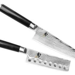 Shun Classic 2-Piece Asian Chef'S Knife & Nakiri Set