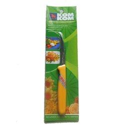 "Kom Kom Superior Carving Knife Fruit & Vegetable Blade Thin 3"" Handle Yellow ."