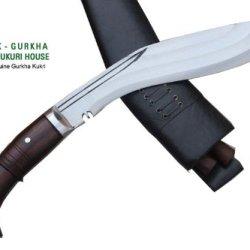 "Genuine Full Tang Hand Forged Blade Khukri Knife - 12"" 3 Fullers Farmer Bushcraft Working Khukuri - Handmade Kukri By Egkh In Nepal Zombie Apocalypse Chopper"