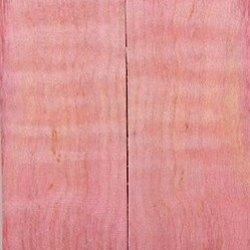 """Maple Curly Stabilized Pink 2 Pc Knife Scales 1/2"""" X 1 1/2"""" X 5"""" 7"""