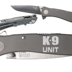 K9 Unit Dog Canine Custom Engraved Sog Twitch Ii Twi-8 Assisted Folding Pocket Knife By Ndz Performance