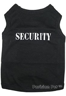 Dog T-shirts: SECURITY