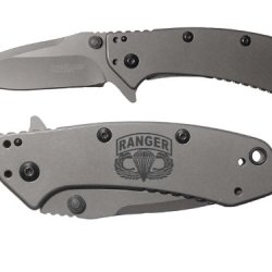 Airborne Ranger Engraved Kershaw Cryo 1555Ti Folding Speedsafe Pocket Knife By Ndz Performance