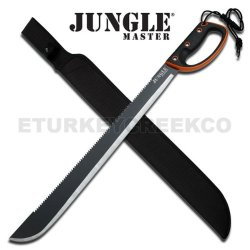 Jm-024L 28 Inch Dklohsd Survival Hium8 Machete With Black Handle With Orange Rim Ayeuiu56 Hlbv23Rt 28 Inch Survival Machete With Black Handle With Orange Rim. Sawback Spine. Je7Zv Lanyard Qgo78Get Hole With Cord, Includes Nylon Sheath.