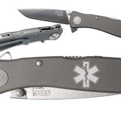 Ems Star Of Life Medical Custom Engraved Sog Twitch Ii Twi-8 Assisted Folding Pocket Knife By Ndz Performance