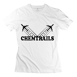 American Chemtrails Black Tee Shirts For Womens/White T-Shirts