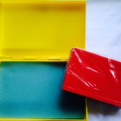 Best Match 2 Sizes Of Plastic Storage Boxes Yellow(Big)-Red(Small), Empty Box For Diy Storage