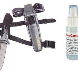 Tusa Scuba Dive X-Pert Ii Titanium Knife Fk-940Ti - Metallic Silver W/ Free Mask Defog 2Oz Spray Bottle