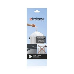 Brabantia Perfect Fit Bags Size H (50 Litre) - 10 Waste Bags Total