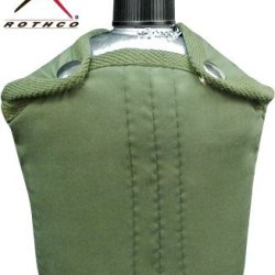Rothco G.I. Canteen And Cover, Olive, O/S
