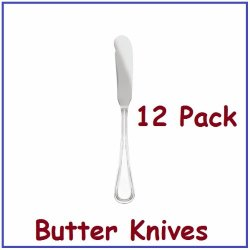 Chefland Dinner Butter Knife Legend Flatware With Bright Finish, 1-Dozen, Stainless Steel