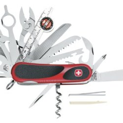 Wenger 16812 Swiss Army Evogrip S54 Pocket Knife, Red And Black
