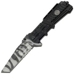 Mtech Usa M-1001Uc Us Marines Urban Camouflage Plastic Handle Folding Knife, 5-Inch Closed Length