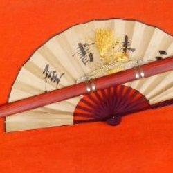 "Tang Jian/Pattern Steel/Copper Fittings/Redwood/Handmade/Full Tang/39"""