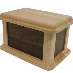 J.K. Adams 250-Cubic-Inches Walnut And Birdseye Maple Wood Burial Urn