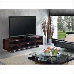 Image of BDI Avion II Flat Panel Cabinet TV Stand in Espresso Stained Oak (8927ES)