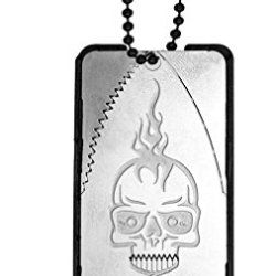 Dog Tag Neck Necklace Knife