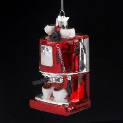Kurt Adler 4-Inch Noble Gems Glass Espresso/Cappuccino Machine Ornament
