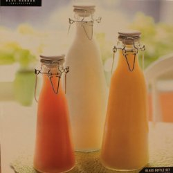 Milk Bottles With Clip Lids Glass Kitchen Canister Set Of 3 31889