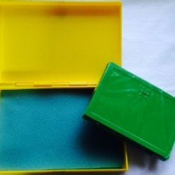 Best Match 2 Sizes Of Plastic Storage Boxes Yellow(Big)-Green(Small), Empty Box For Diy Storage