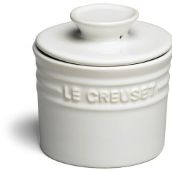 Le Creuset Stoneware Butter Crock, White