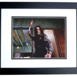Danny Trejo Autographed/ Hand Signed Machete 8X10 Photo - Black Custom Frame