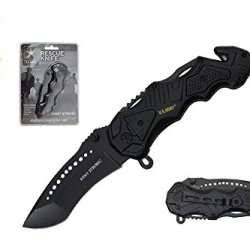 "8.5"" Assisted Open Tactical Survival Pocket Knife Official Army Licensed"